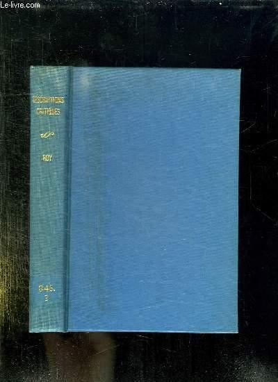 DESCRIPTIONS CRITIQUES. 6 em EDITION.