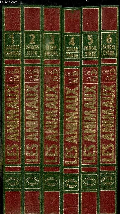 6 TOMES. LES ANIMAUX LA GRANDE ENCYCLOPEDIE DU MONDE ANIMAL DE A A Z. TOME 1: ABEILLE -  CERVIDES. TOME 2: CETACES - ELEPH. TOME 3: ELEPH - INSEPA. TOME 4: ISOCAR - PANDA. TOME 5: PANGO - SINGE. TOME 6: SINGE - ZYGOP.