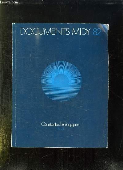 DOCUMENTS MIDY 82. CONSTANTES BIOLOGIQUES TOME 2.