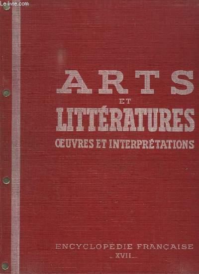 ENCYCLOPEDIE FRANCAISE TOME XVII ARTS ET LITTERATURES DANS LA SOCIETE CONTEMPORAINE: 3em PARTIE LE DIALOGUE ENTRE L OUVRIER ET L USAGER.