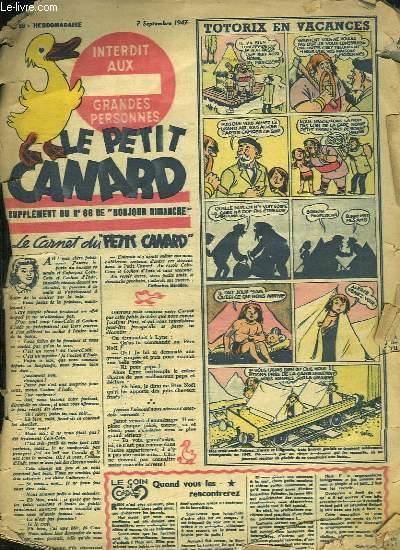 LE PETIT CANARD N° 66 DU 7 SEPTEMBRE 1947. LE CARNET DU PETIT CANARD.