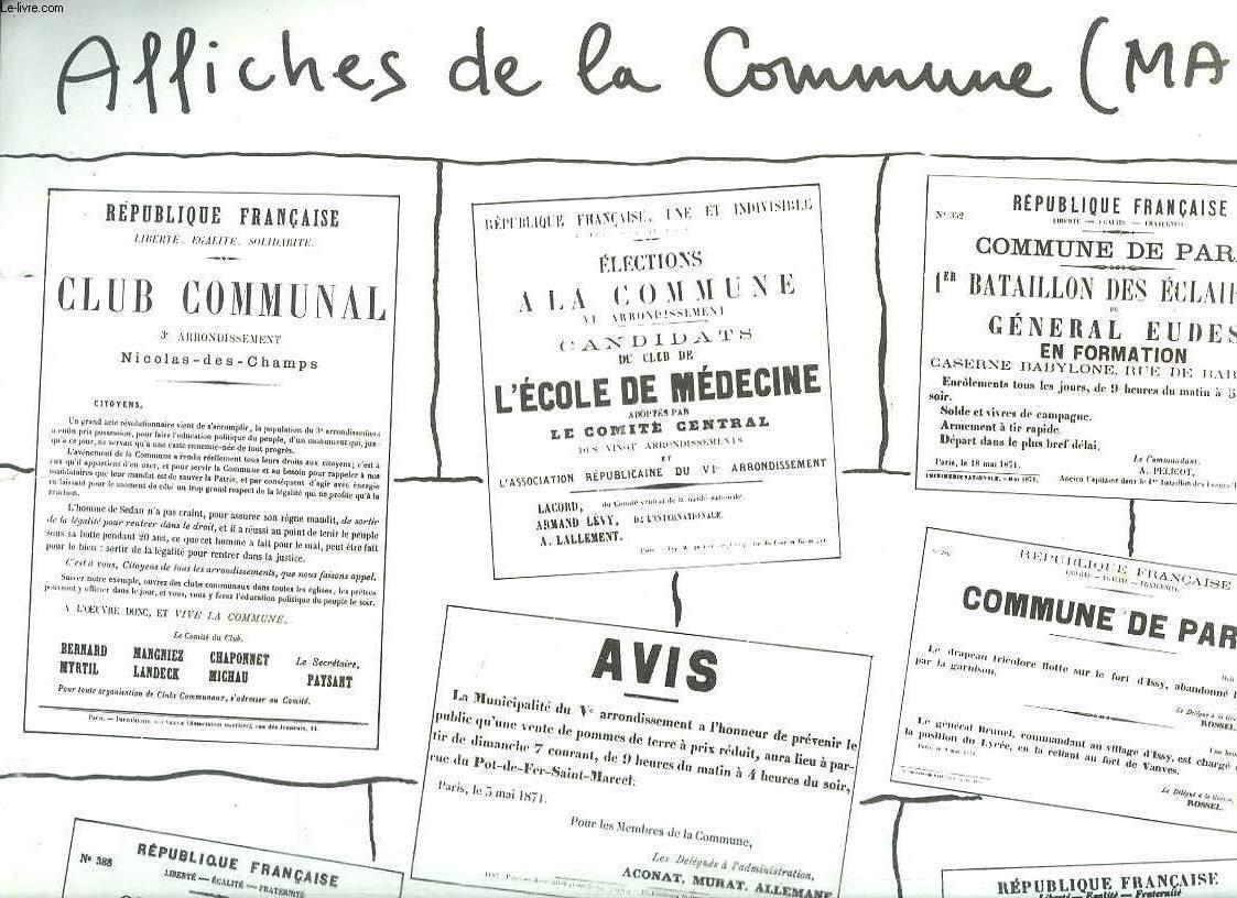 AFFICHE CONTENENT DES AFFICHES DE LA COMMUNE DE PARIS. MAI.
