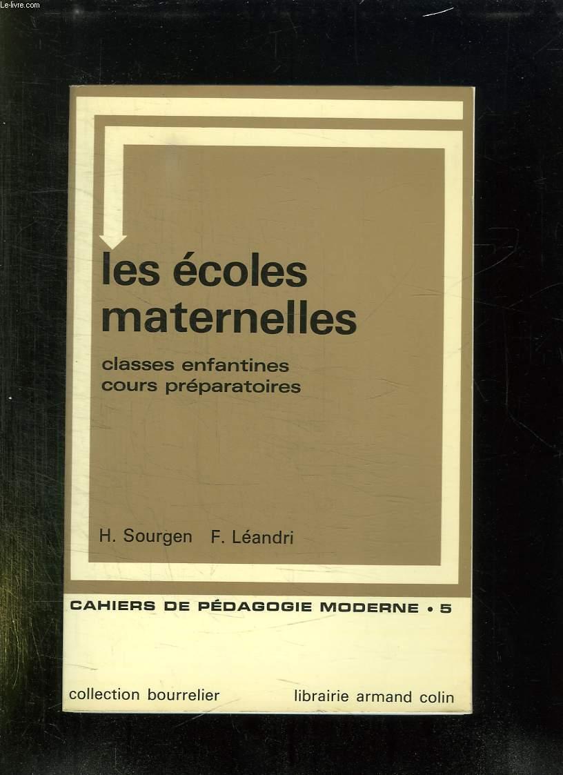 LES ECOLES MATERNELLES. CLASSES ENFANTINES COURS PREPARATOIRES. METHODES, REGLEMENT, ORGANISATION, FONCTIONNEMENT.