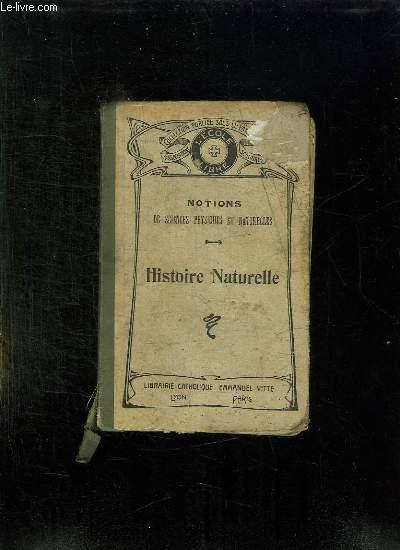 HISTOIRE NATURELLE. EDITION REVUE ET AUGMENTEE.