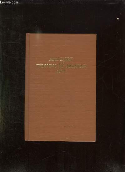 ANNUAIRE DES TEMOINS DE JEHOVAH 1977. CONTENANT LE RAPPORT POUR L ANNEE DE SERVICE 1976 ET LES TEXTES DU JOUR SUIVIS DE COMMENTAIRES.