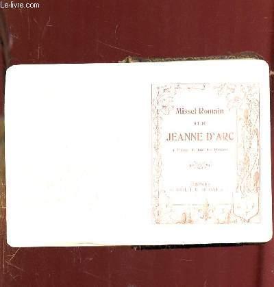 MISSEL ROMAIN DIT DE JEANNE D ARC.
