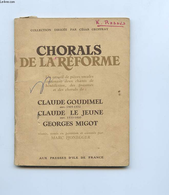 CHORALS DE LA REFORME.