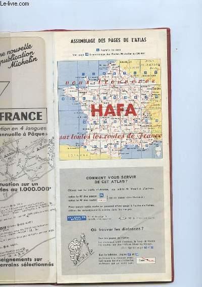 CARTE DE FRANCE. ASSEMBLAGE DES PAGES DE L ATLAS.