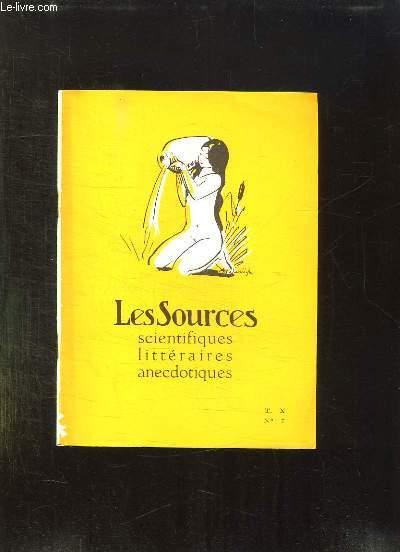 LES SOURCES N° 7 T IX. SCIENTIFIQUES LITTERAIRES ANECDOTIQUES.
