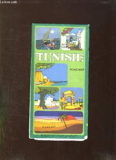 CARTE DE TUNISIE. ROAD MAP.