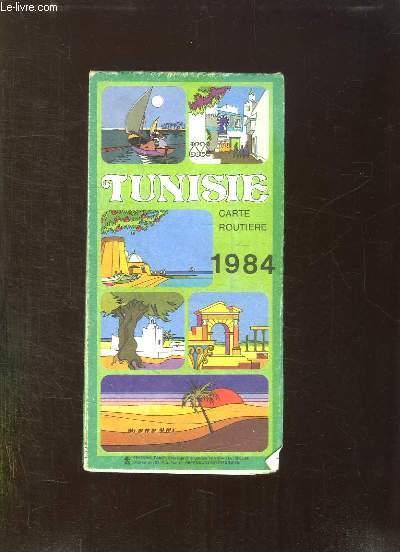 TUNISIE. CARTE ROUTIERE 1984.