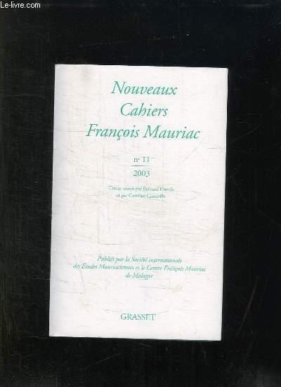 NOUVEAUX CAHIERS FRANCOIS MAURIAC N° 11 2003.