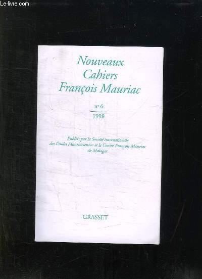 NOUVEAUX CAHIERS FRANCOIS MAURIAC N° 6. 1998.