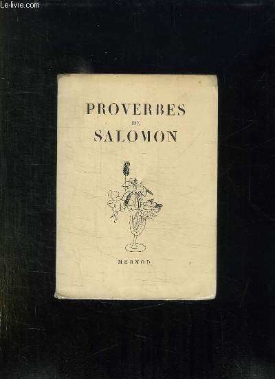 PROVERBES DE SALOMON.