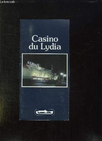 PLAQUETTE. CASINO DU LYDIA.
