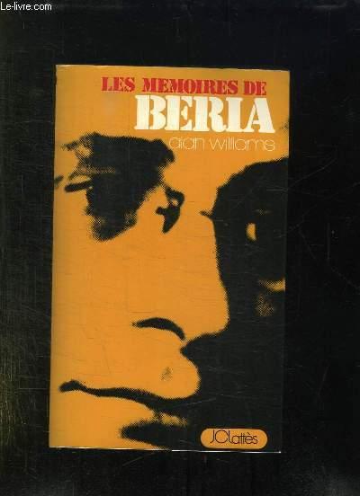 LES MEMOIRES DE BERIA.