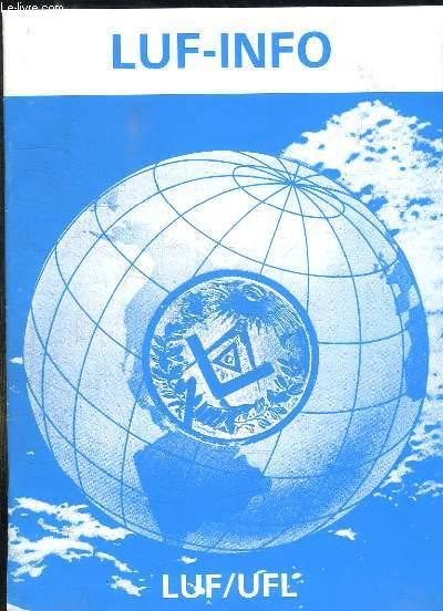 LUF INFO N° 10 OCTOBRE 1990. TEXTE EN ANGLAIS, FRANCAIS ET ALLEMAND.