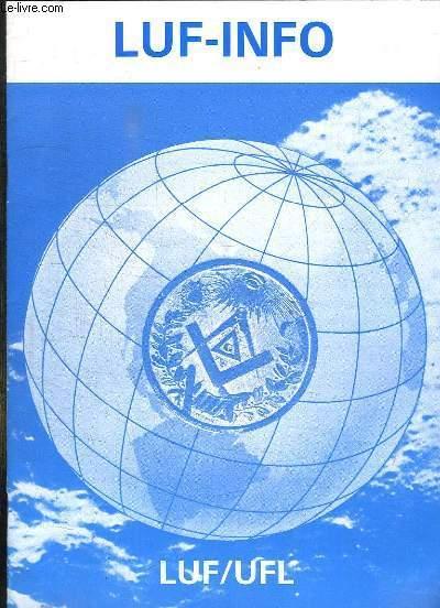 LUC INFO N° 3 AOUT 1987. TEXTE EN ANGLAIS FRANCAIS ET ALLEMAND.