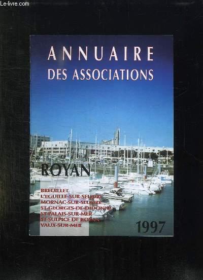 ANNUAIRE DES ASSOCIATIONS. 1997. ROYAN.