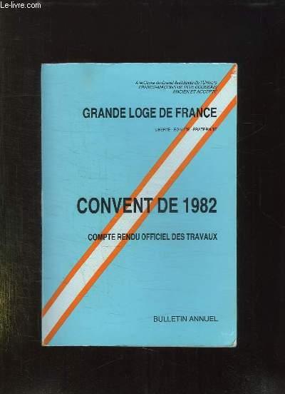 CONVENT DE 5982. COMPTE RENDU OFFICIEL DES TRAVAUX.