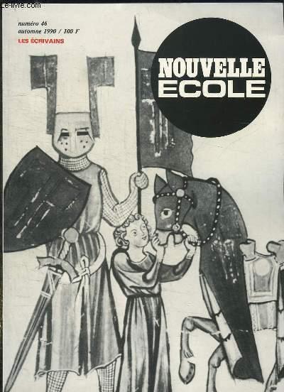 NOUVELLE ECOLE N° 46 SEPTEMBRE 1990. SOMMAIRE: LA LITTERATURE ESTONINNE CONTEMPORAINE, ARCHEOLOGIE DE L EPOPEE MEDIEVALE, PRIMORDIALITE DE LA TRADITION CELTIQUE...