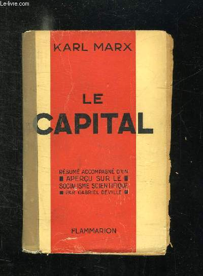 LE CAPITAL DE KARL MARX.