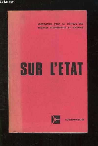 SUR L ETAT. COLLOQUE DE NICE 8 - 9 - 10 SEPTEMBRE 1976.