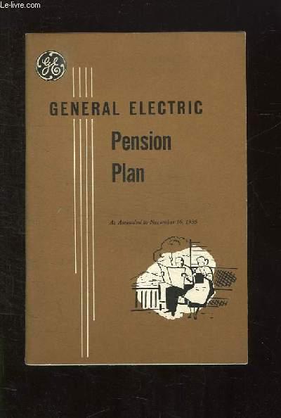 GENERAL ELECTRIC. PENSIO PLAN. TEXTE EN ANGLAIS.