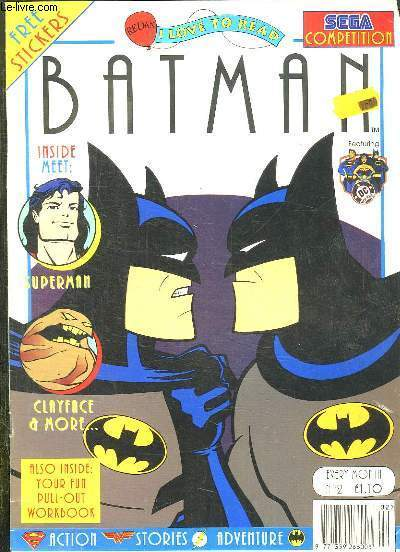 BATMAN N° 2. INSIDE METT, SUPERMAN, CLAYFACE A MORE, YOUR FUN PULL OUT... TEXTE EN ANGLAIS.