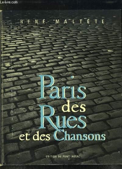 PARIS DES RUES ET DES CHANSONS.