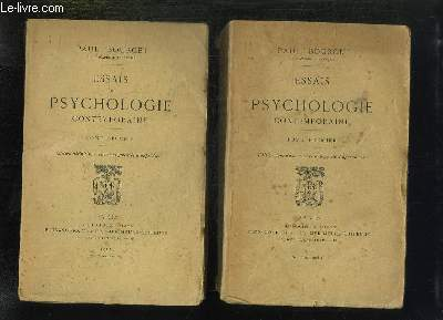 2 TOMES. ESSAIS DE PSYCHOLOGIE CONTEMPORAINE. EDITION DEFINITIVE AUGMENTEE D APPENDICES.