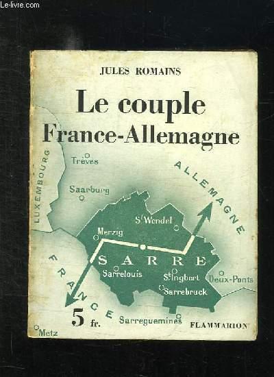 LE COUPLE FRANCE ALLEMAGNE.