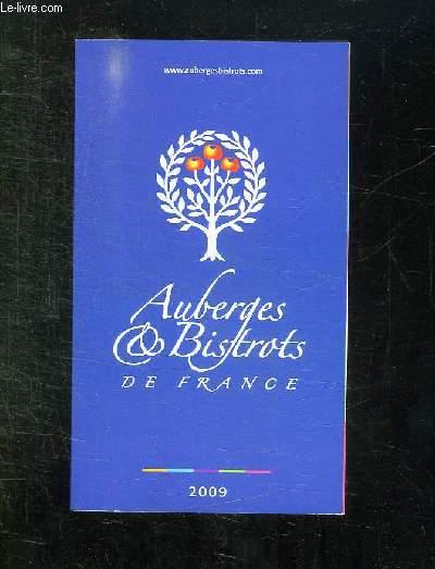 AUBERGES ET BISTROTS DE FRANCE 2009.