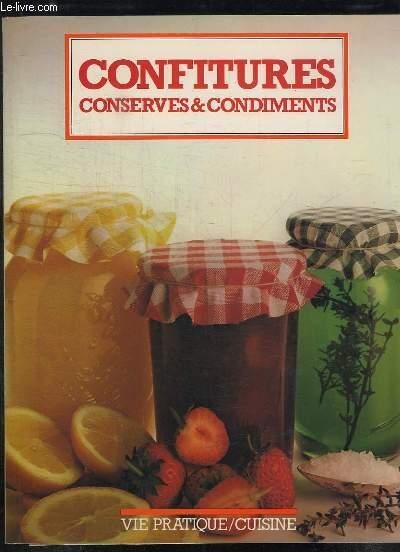 CONFITURES CONSERVES ET CONDIMENTS.