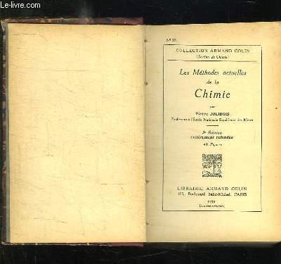 3 TOMES EN 1. LES METHODES ACTUELLES DE LA CHIMIE, PRINCIPES DE L ANALYSE CHIMIQUE, CHIMIE GENERALE.