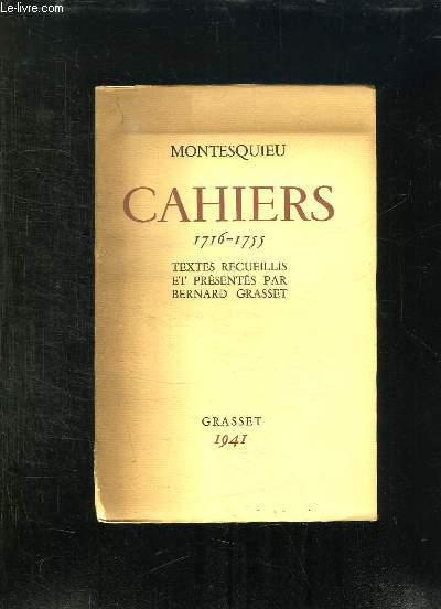 CAHIERS 1716 - 1755.