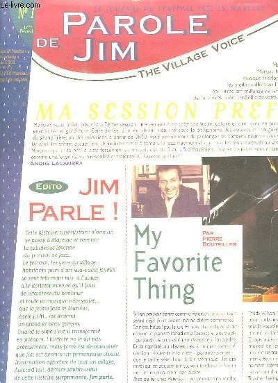 LE JOURNAL DU FESTIVAL JAZZ IN MARCIAC. N° 1. PAROLE DE JIM...
