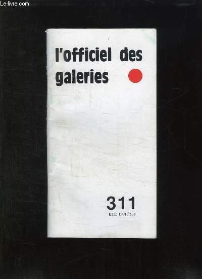 L OFFICIEL DES GALERIE. 311 ETE 1991.