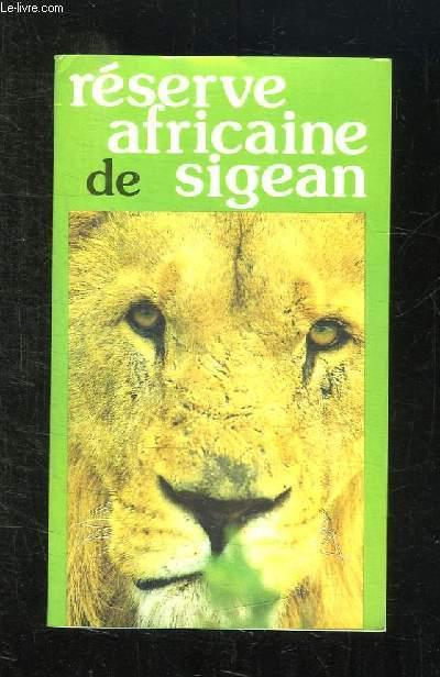RESERVE AFRICAIN DE SIGEAN.