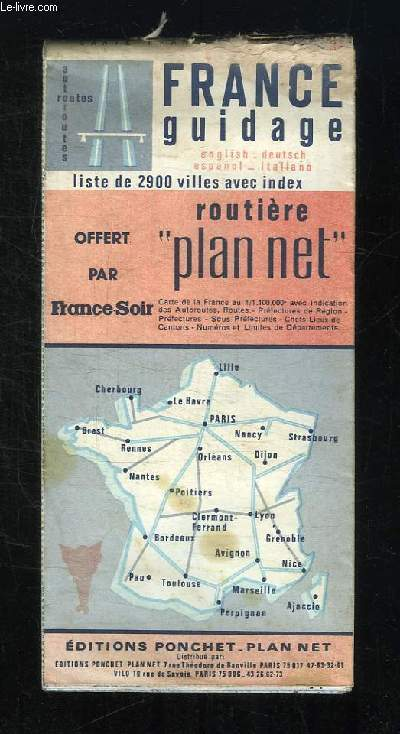 FRANCE GUIDAGE. ROUTIERE PLAN NET.