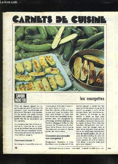 SUPPLEMENT ECHO DE LA MODE. CARNET DE CUISINE + SUPPLEMENT CHEZ NOUS.