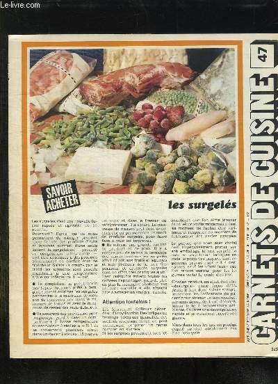 SUPPLEMENT ECHO DE LA MODE. CARNET DE CUISINE N°  47. LES SURGELES.