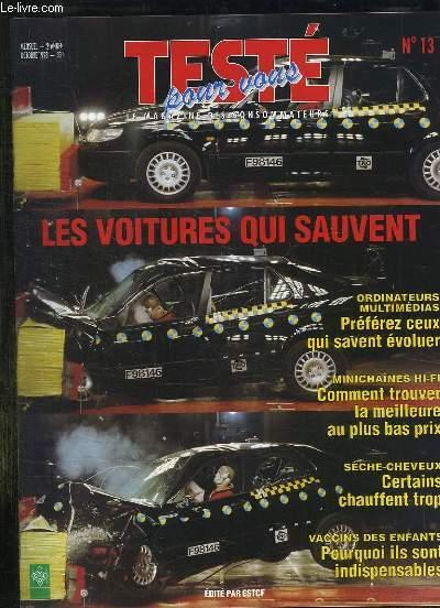 Teste pour vous n 13 octobre 1998 sommaire les voitures for Chambre commerciale 13 octobre 1998