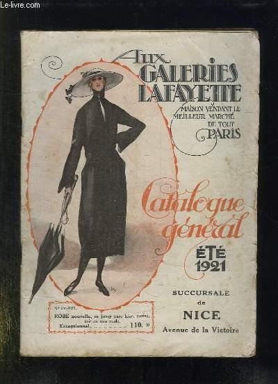 AUX GALERIES LAFAYETTE. CATALOGUE GENERALE ETE 1921.