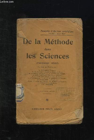 DE LA METHODE DANS LES SCIENCES.