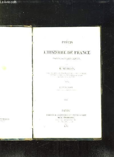 PRECIS DE L HISTOIRE DE FRANCE JUSQU A LA REVOLUTION FRANCAISE. 2em EDITION.