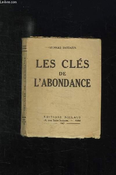 LES CLES DE L ABONDANCE.