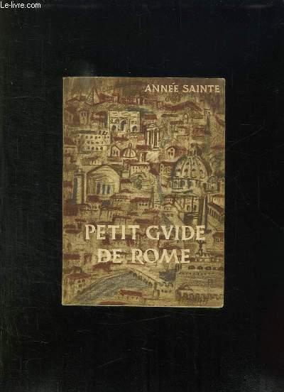 PETIT GUIDE DE ROME POUR LES PELERINS DU 25em JUBILE.