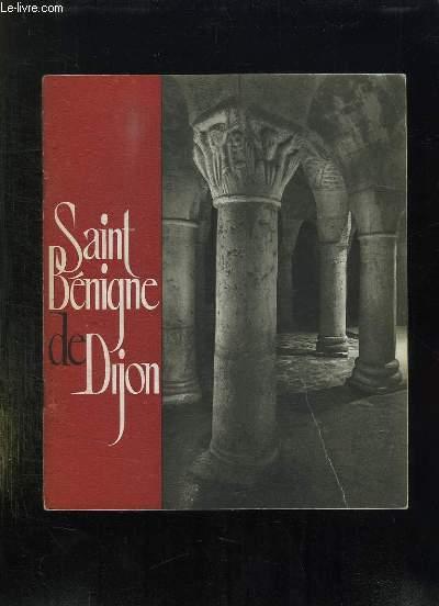 BROCHURE. SAINT BENIGNE DE DIJON.