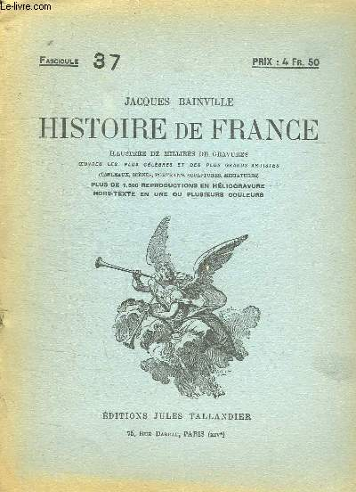 HISTOIRE DE FRANCE FASCICULE N° 37.